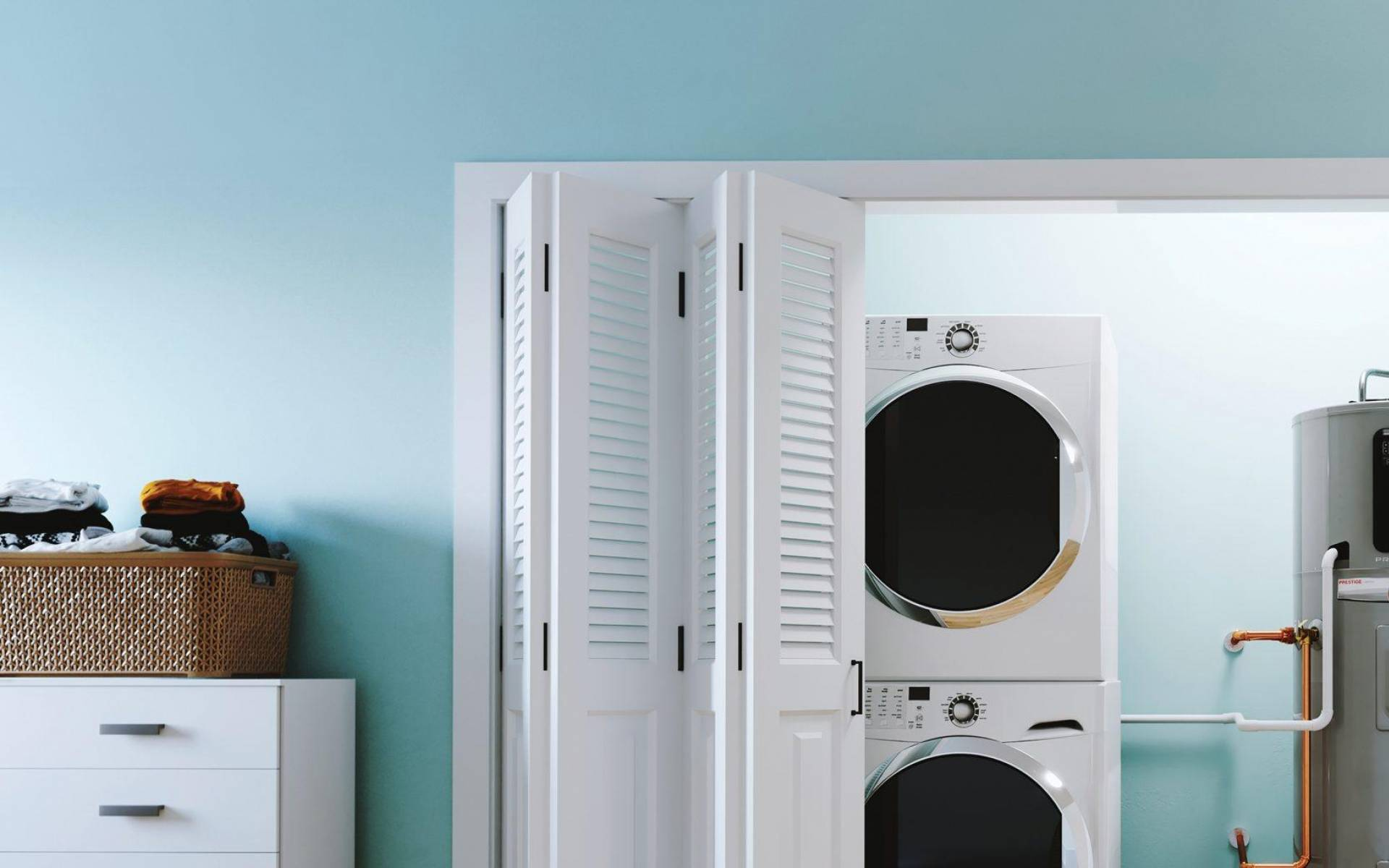 Rheem Hybrid Laundry Room